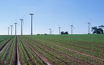 AYBR17 Onshore wind turbines West Somerton Norfolk England