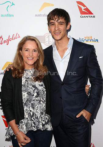 WEST HOLLYWOOD, CA June 01- Brenton Thwaites, Fiona Middleton, at The 9th Annual Australians In Film Heath Ledger Scholarship Dinner at Sunset Marquis Hotel, California on June 01, 2017. Credit: Faye Sadou/MediaPunch