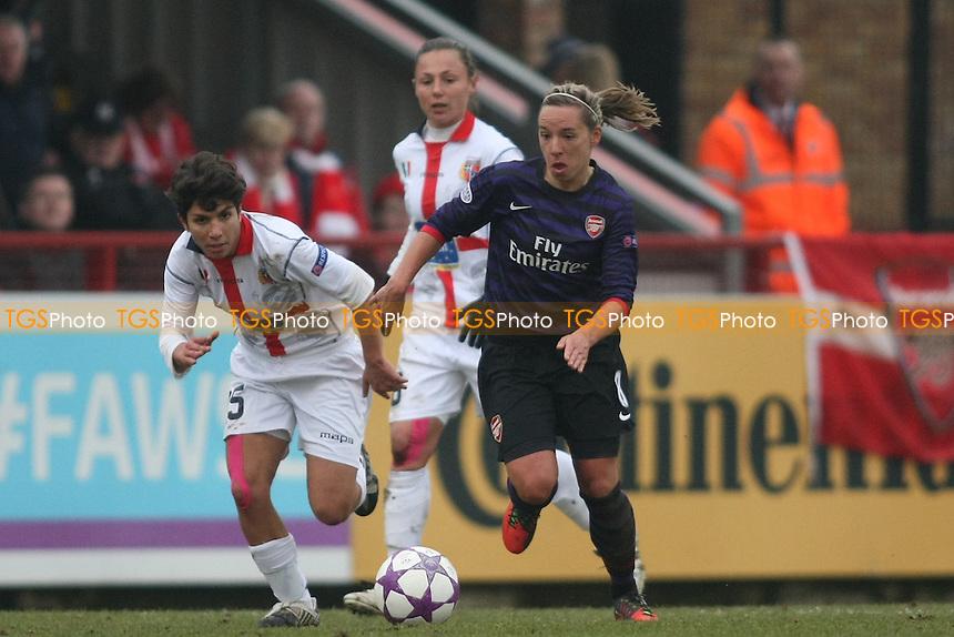 Jordan Nobbs of Arsenal - Arsenal Ladies vs ASD Torres - UEFA Womens Champions League Quarter-Final 1st Leg Football at Boreham Wood FC - 20/03/13 - MANDATORY CREDIT: George Phillipou/TGSPHOTO - Self billing applies where appropriate - 0845 094 6026 - contact@tgsphoto.co.uk - NO UNPAID USE.