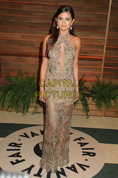02 March 2014 - West Hollywood, California - Selena Gomez. 2014 Vanity Fair Oscar Party following the 86th Academy Awards held at Sunset Plaza.  <br /> CAP/ADM/BP<br /> &copy;Byron Purvis/AdMedia/Capital Pictures