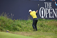 Aaron Wise  (USA) on the 18th during final round of the 148th Open Championship, Royal Portrush golf club, Portrush, Antrim, Northern Ireland. 21/07/2019.<br /> Picture Fran Caffrey / Golffile.ie<br /> <br /> All photo usage must carry mandatory copyright credit (© Golffile | Fran Caffrey)