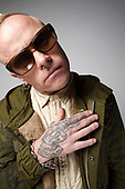 Feb 23, 2009: THE PRODIGY - Keith Flint photosession in London