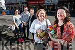 Alanna O'Sullivan, Sean Flanagan, Anne Locke, Amanda Dineen and Yvonne Dineen, pictured outside Easons, Tralee, on Tuesday evening, last, as they have set up a new Food Share in Tralee, 'Best Before and More' Food Store, where surplus Food is donated and will be sold at a reduced price.