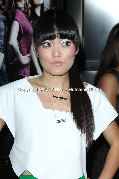 """LOS ANGELES - SEP 24:  Hana Mae Lee arrives at the """"Pitch Perfect'"""" Premiere at ArcLight Cinemas on September 24, 2012 in Los Angeles, CA"""