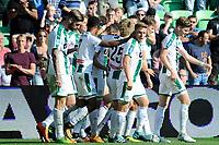 GRONINGEN - Voetbal, FC Groningen - FC Twente,  Eredivisie , Noordlease stadion, seizoen 2017-2018, 24-09-2017,   Groningen viert de 1-0