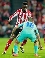 Athletic de Bilbao's Inaki Williams (l) and FC Barcelona's Jordi Alba during La Liga match. October 28,2017. (ALTERPHOTOS/Acero) /NortePhoto.com