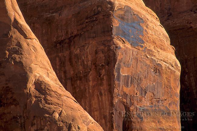 Sandstone formations along the Devils Garden Trail Arches National Park, UTAH