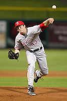 Ohio State Buckeyes starting pitcher Brian King #43 during a game against the Seton Hall Pirates at the Big Ten/Big East Challenge at Florida Auto Exchange Stadium on February 18, 2012 in Dunedin, Florida.  (Mike Janes/Four Seam Images)