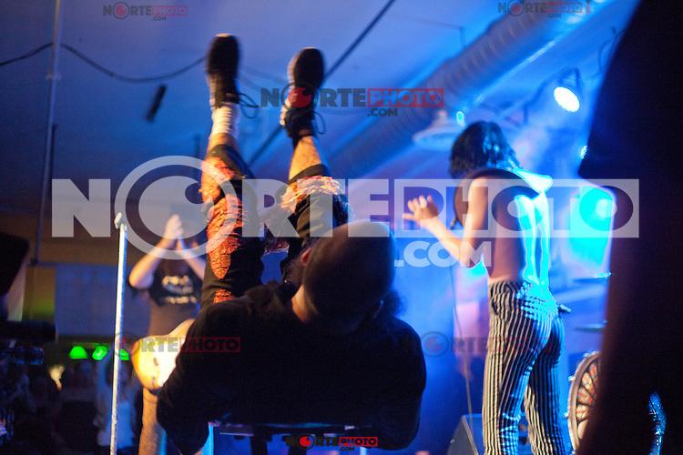 Foxy Shazam performing at The Loft in Lansing, Michigan on April 30, 2012. © Joe Gall / MediaPunch Inc.