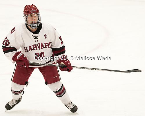 Michelle Picard (Harvard - 20) - The visiting Boston College Eagles defeated the Harvard University Crimson 2-0 on Tuesday, January 19, 2016, at Bright-Landry Hockey Center in Boston, Massachusetts.
