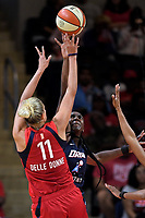 Washington, DC - June 1, 2019: Washington Mystics forward Elena Delle Donne (11) hits a fade away jump shot during game between Atlanta Dream and Washington Mystics at the St. Elizabeths East Entertainment and Sports Arena (Photo by Phil Peters/Media Images International)