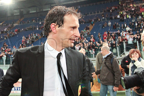 07.05.2011. Rome, Italy. Serie A Football.  AS ROMA versus Milan  Stadio Milan Coach Allegri . Inter Milan secure the Serie A title with scoreless draw at Roma.