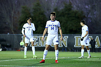 WINSTON-SALEM, NC - DECEMBER 07: Mateo Restrepo Mejia #14 of the University of California Santa Barbara during a game between UC Santa Barbara and Wake Forest at W. Dennie Spry Stadium on December 07, 2019 in Winston-Salem, North Carolina.