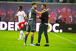 07.10.2018, Red Bull Arena, Leipzig, GER, 1. FBL 2018/2019, RB Leipzig vs. 1. FC N&uuml;rnberg/Nuernberg,<br /> <br /> DFL REGULATIONS PROHIBIT ANY USE OF PHOTOGRAPHS AS IMAGE SEQUENCES AND/OR QUASI-VIDEO.<br /> <br /> im Bild<br /> <br /> Mikael Ishak (#9, 1. FC Nuernberg), Trainer Michael Koellner (#tr, 1. FC Nuernberg), <br /> <br /> <br /> Foto &copy; nordphoto / Dostmann