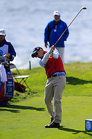 Kevin Streelman (USA) tees off the 8th tee at Pebble Beach Golf Links during Saturday's Round 3 of the 2017 AT&amp;T Pebble Beach Pro-Am held over 3 courses, Pebble Beach, Spyglass Hill and Monterey Penninsula Country Club, Monterey, California, USA. 11th February 2017.<br /> Picture: Eoin Clarke | Golffile<br /> <br /> <br /> All photos usage must carry mandatory copyright credit (&copy; Golffile | Eoin Clarke)