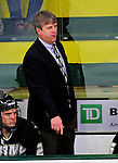 2 January 2011: Army Black Knights' Head Coach Brian Riley watches play from behind the bench during a game against the Ohio State University Buckeyes at Gutterson Fieldhouse in Burlington, Vermont. The Buckeyes defeated the Black Knights 5-3 to win the 2010-2011 Catamount Cup. Mandatory Credit: Ed Wolfstein Photo