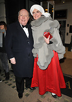Lord Julian Fellowes and Lady Emma Fellowes at the Services To Film inaugural gala dinner in aid of Walking With The Wounded charity, BAFTA, Piccadilly, London, England, UK, on Tuesday 06 February 2018.<br /> CAP/CAN<br /> &copy;CAN/Capital Pictures