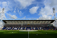 A general view of Deepdale Stadium, home of Preston North End FC<br /> <br /> Photographer Richard Martin-Roberts/CameraSport<br /> <br /> The EFL Sky Bet Championship - Preston North End v Wigan Athletic - Saturday 6th October 2018 - Deepdale Stadium - Preston<br /> <br /> World Copyright &copy; 2018 CameraSport. All rights reserved. 43 Linden Ave. Countesthorpe. Leicester. England. LE8 5PG - Tel: +44 (0) 116 277 4147 - admin@camerasport.com - www.camerasport.com