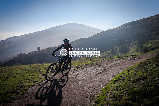 Cycling in the Malvern Hills, UK