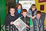 YOUNG SUPPORT: Supporting the Go Kerry Night at the Dogs at the Kingdom Greyhound Stadium on Friday front l-r: Tom Stephens and Ben and Tom Eadie. Back l-r: Maud Eadie and Tom Stephens.