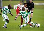 Karamako Dembélé in action in the 2015 Youdan Trophy between Celtic v Charlton Athletic. Photo by Glenn Ashley