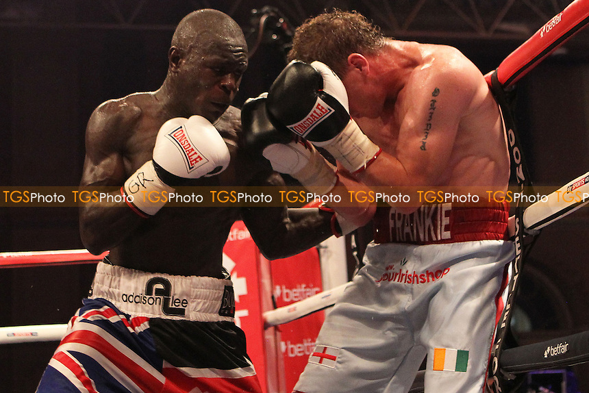Erick Ochieng vs Toms in a boxing contest at the Alexander Palace, London, promoted by Matchroom Sport - 08/09/12 - MANDATORY CREDIT: Chris Royle/TGSPHOTO - Self billing applies where appropriate - 0845 094 6026 - contact@tgsphoto.co.uk - NO UNPAID USE..