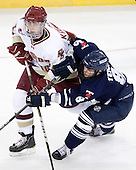 Chris Kreider (BC - 19), Bryden Teich (Toronto - 8) - The Boston College Eagles defeated the visiting University of Toronto Varsity Blues 8-0 in an exhibition game on Sunday afternoon, October 3, 2010, at Conte Forum in Chestnut Hill, MA.