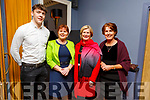 Dave Clifford, Geraldine Behan, Kay O'Connor and Aileen Trant enjoying the Kerry Supporters Social in the Ballygarry House Hotel on Saturday night.