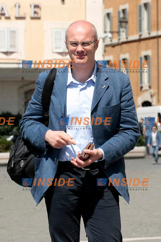 Federico D'Inca'<br /> Roma 18/06/2013 Piazza Montecitorio. Manifestazione dei Grillini.<br /> Photo Samantha Zucchi Insidefoto