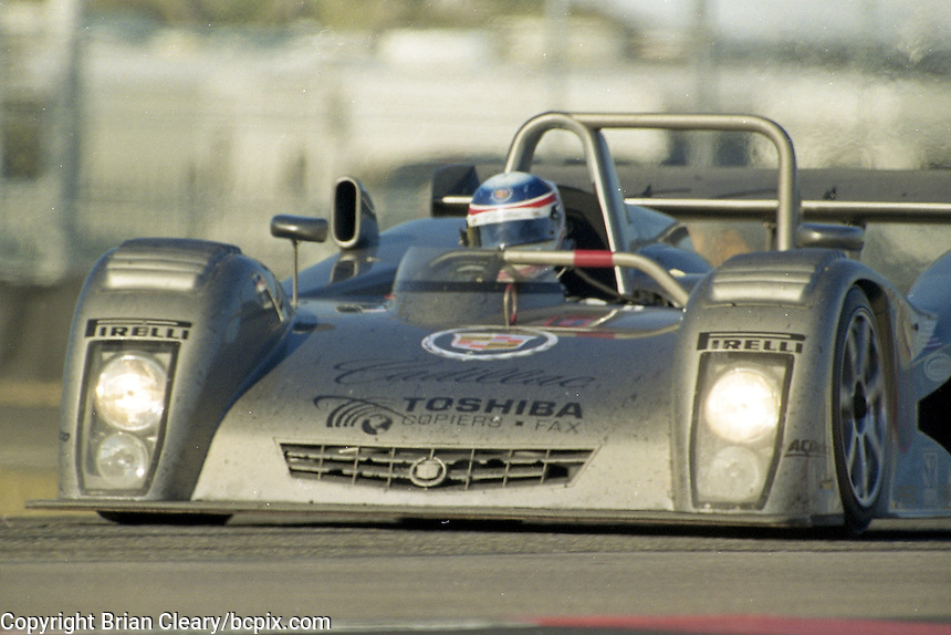The #6 Cadillac Northstar LMP of Butch Letzinger, Andy Wallace and Franck Lagorce races to a 13th place finish in the Rolex 24 at Daytona, Daytona International Speedway, Daytona Beach, FL, February 2000.  (Photo by Brian Cleary/www.bcpix.com)