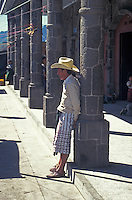 Tzutuhil Maya man wearing traditional clothing in Santiago Atitlan, Guatemala