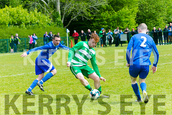 In Action Celtic's Steve McCarthy in the Killarney Athletic v Killarney Celtic at Woodlawn Killarney on Sunday