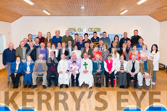 Spa GAA Club Annual mass follow by Fr Tim O'Sullivan (President of Spa GAA Club) 80th birthday celebration in the Club House last Tuesday evening.