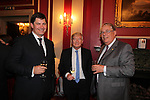 Wales in London Dinner.Neil Ward, Peter Lee and Gareth Williams.Caledonian Club.19.06.12.©Steve Pope
