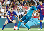 FC Barcelona's Gerard Deulofeu (l) and Real Madrid's Carlos Henrique Casemiro during Supercup of Spain 1st match. August 13,2017. (ALTERPHOTOS/Carrusan)