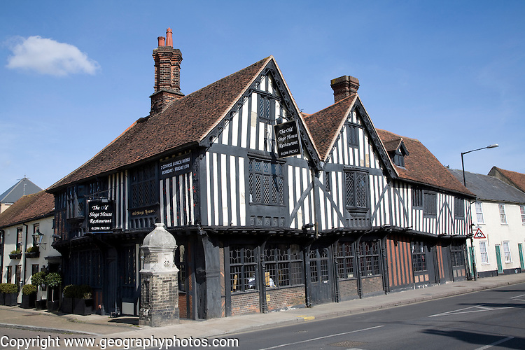Tudor timber framed building the Old Siege House, Colchester, Essex