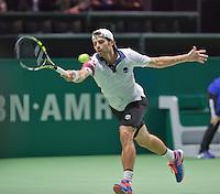 Februari 09, 2015, Netherlands, Rotterdam, Ahoy, ABN AMRO World Tennis Tournament, Simone Bolelli (ITA) <br /> Photo: Tennisimages/Henk Koster