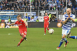 02.12.2018, Schauinsland-Reisen-Arena, Duisburg, GER, 2. FBL, MSV Duisburg vs. Holstein Kiel, DFL regulations prohibit any use of photographs as image sequences and/or quasi-video<br /> <br /> im Bild Jannik Dehm (#20, Holstein Kiel) schiesst auf das Tor<br /> <br /> Foto &copy; nordphoto/Mauelshagen