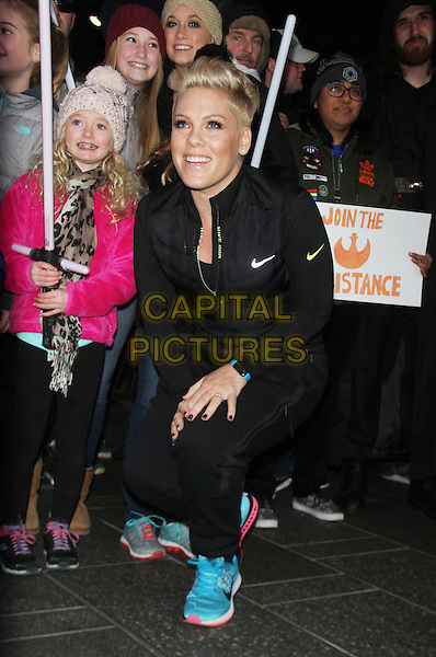 NEW YORK, NY - NOVEMBER 30: Pink visits Good Morning America promoting the Nationwide launch of UNICEF Kid Power in New York City on November 30, 2015. <br /> CAP/MPI/RW<br /> &copy;RW/MPI/Capital Pictures