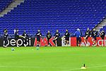 Die Mannschaft bei einer Uebung beim Abschlusstraining der TSG 1899 Hoffenheim zum Spiel in der Champions League, Olympique Lyon - TSG 1899 Hoffenheim.<br /> <br /> Foto &copy; PIX-Sportfotos *** Foto ist honorarpflichtig! *** Auf Anfrage in hoeherer Qualitaet/Aufloesung. Belegexemplar erbeten. Veroeffentlichung ausschliesslich fuer journalistisch-publizistische Zwecke. For editorial use only. DFL regulations prohibit any use of photographs as image sequences and/or quasi-video.