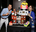 John Tartaglia and Stephanie D'abruzzo attends the 'Avenue Q' - 15th Anniversary Performance Celebration at Novotel on July 31, 2018 in New York City.