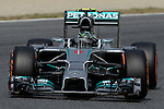 Mercedes driver Nico Rosberg drives during a classification session at the Circuit de Catalunya on May 10, 2014. <br /> PHOTOCALL3000/PD