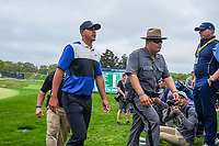 A happy Brooks Koepka (USA) departs the green on 18 after winning the 2019 PGA Championship, Bethpage Black Golf Course, New York, New York,  USA. 5/19/2019.<br /> Picture: Golffile | Ken Murray<br /> <br /> <br /> All photo usage must carry mandatory copyright credit (© Golffile | Ken Murray)