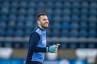 Goalkeeper Scott Brown of Wycombe Wanderers ahead of the Sky Bet League 2 match between Wycombe Wanderers and Newport County at Adams Park, High Wycombe, England on 2 January 2017. Photo by Andy Rowland.