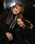 """Brenda Vaccaro and Glenda Jackson  during the Opening Night After Party for """"Three Tall Women"""" at the Bowery Hotel on 3/29/2018 in New York City."""