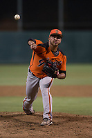 AZL Giants Orange relief pitcher Jorge Labrador (86) delivers a pitch during an Arizona League game against the AZL Athletics at Lew Wolff Training Complex on June 25, 2018 in Mesa, Arizona. AZL Giants Orange defeated the AZL Athletics 7-5. (Zachary Lucy/Four Seam Images)