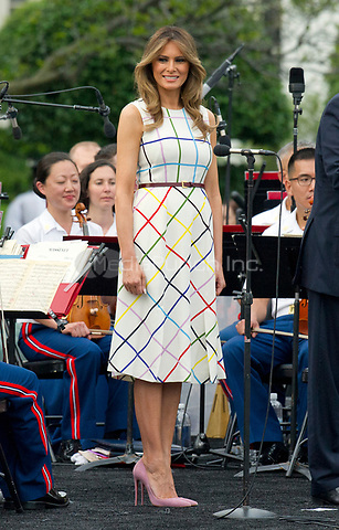 First lady Melania Trump as she and United States President Donald J. Trump host the annual Congressional Picnic on the South Lawn of the White House in Washington, DC on Thursday, June 22, 2017.<br /> Credit: Ron Sachs / CNP /MediaPunch