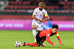 Abdulwahab Ali Alsafi of Bahrain (top) fights for the ball with Son Heungmin of South Korea (bottom)during the AFC Asian Cup UAE 2019 Round of 16 match between South Korea (KOR) and Bahrain (BHR) at Rashid Stadium on 22 January 2019 in Dubai, United Arab Emirates. Photo by Marcio Rodrigo Machado / Power Sport Images