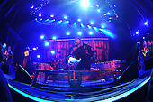 WEST PALM BEACH, FL - JULY 24: Jim Root, Alessandro Venturella, Corey Taylor and Mick Thomson of Slipknot perform at The Coral Sky Amphitheater on July 24, 2015 in West Palm Beach Florida. Credit Larry Marano © 2015