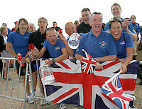 05 MAY 2004 - FUNCHAL, MADEIRA - British supporters at the World Aquathlon Championships. (PHOTO (C) NIGEL FARROW)